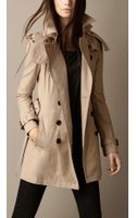 Burberry Short Hooded Trench Coat