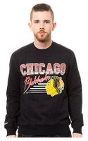 Mitchell & Ness The Chicago Blackhawks Training Room Crew Fleece - Lyst