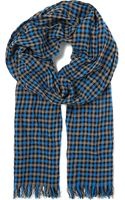 Hugo Boss Tartan Checked Scarf