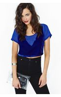 Nasty Gal Collection Levitate Velvet Crop Top - Lyst