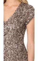 Parker Cluster Beaded V Neck Dress - Lyst