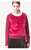 French Connection Faux Fur Knitted Jumper
