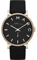 Marc By Marc Jacobs Baker Stainless Steel and Leather Watch