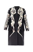 Peter Pilotto Luna Print Wool Coat - Lyst