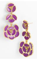 Kate Spade Disco Pansy Chandelier Earrings - Lyst