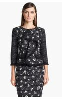 St. John Collection Embellished Dash Tweed Jacket - Lyst