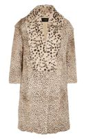 Thakoon Animal-print Goat Hair and Rabbit Coat