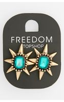 Topshop Spiked Stone Stud Earrings - Lyst