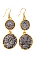 Kenneth Jay Lane Tiered Coin Drop Earrings - Lyst