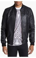 Topman Leather Bomber Jacket