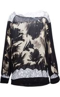 Blumarine Printed Sweater - Lyst