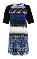 Tibi Multi Lace Print Dress