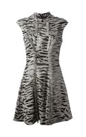 McQ by Alexander McQueen Tweed Animal Print Dress - Lyst