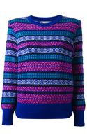 Yves Saint Laurent Vintage Fair Isle Sweater - Lyst