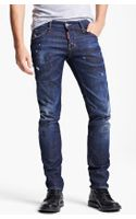 DSquared2 Paint Splattered Slim Fit Jeans - Lyst