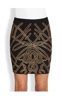 Haute Hippie Soutache Embellished Pencil Skirt - Lyst