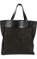 Saint Laurent Studded North-south Shopper Tote - Lyst