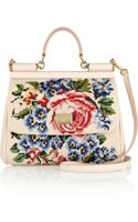 Dolce & Gabbana The Sicily Medium Floralembroidered Shoulder Bag - Lyst