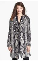 Diane Von Furstenberg Sally Animal Print Coat