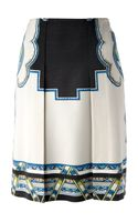 Etro Abstract Print Skirt - Lyst