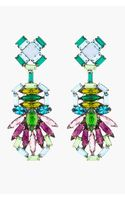 Dannijo Purple Crystal Barney Drop Earrings