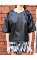 Glassworks Leather Look Oversized Tshirt