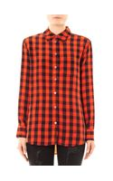 Equipment Reese Plaid Silk Shirt - Lyst