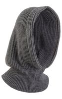 Barneys New York Ribbed Knit Hood - Lyst