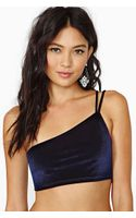 Nasty Gal Velvet Villain Crop Top - Lyst