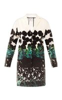 Cedric Charlier Printed Satin Cotton Coat - Lyst