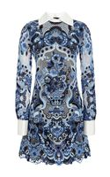 Valentino Guipure Lace Aline Mini Dress