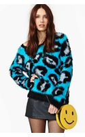 Nasty Gal Electric Cheetah Sweater - Lyst
