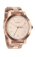 Nixon Spur Rose Goldtone Stainless Steel Watch - Lyst