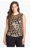 Alex Evenings Sequin Lace Sleeveless Blouse