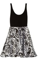 Alice + Olivia Tahlia Printed Silk organza Dress