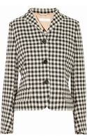 Chloé Checked Wool-blend Jacket - Lyst