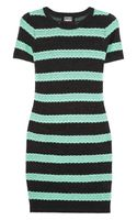 Markus Lupfer Striped Cotton and Wool Blend Dress