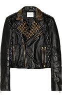 Pierre Balmain Studded Leather Biker Jacket