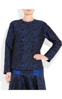 Stella McCartney Wool Blend Brocade Top - Lyst