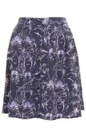 Topshop Printed Button Through Skirt - Lyst