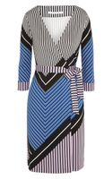 Diane Von Furstenberg Printed Silkjersey Wrap Dress