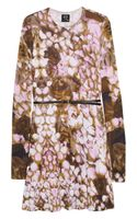 McQ by Alexander McQueen Roseprint Stretchjersey Dress - Lyst