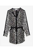 A.L.C. Leopard Print Shirt Dress - Lyst