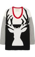 Mason by Michelle Mason Reindeer Intarsia Wool And Cashmere Blend Sweater - Lyst