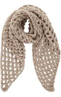Barneys New York Chunky Open Stitch Scarf