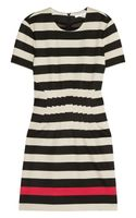 Diane Von Furstenberg Yazmine Striped Stretchjersey Dress