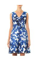 Prabal Gurung Pansy Floral Print Dress