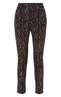 Band Of Outsiders Printed Silk Crepe De Chine Tapered Pants