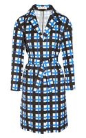 Marni Checked Taffeta Coat