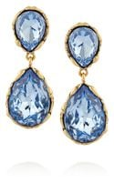 Oscar de la Renta Goldplated Crystal Clip Earrings